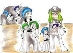 GrimmxNell: Family time color by Chibi-Twilight