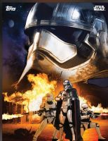 Star Wars: TFA Captain Phasma promo poster by Artlover67
