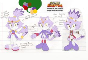 Sketches 21 - Blaze in Sonic Boom Concepts by StrawberrySquirrel