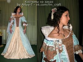 Costume bespoke - Anne of Austria from the movie by Artyy-Tegra