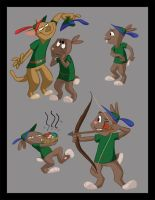 Chaucer the Rabbit 1 by wulfae