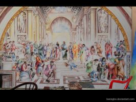 school of athens reproduction by barisgbo