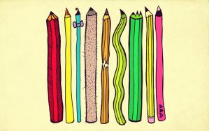 Pencil Family by Poof2507