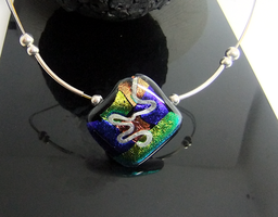 Dichroic Glass with Silver by angelfunkstudio