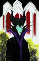 Maleficent color drawing by Blasterkid
