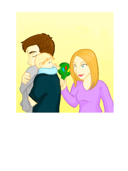 Mulder, Scully and Baby William by ladykinbote
