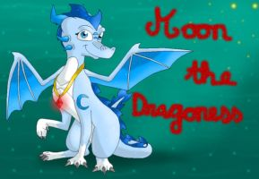 Request: Moon the Dragoness by CartoonSilverFox