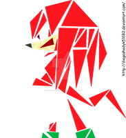 Knuckles - Art using triangles by DiegoShedyk53182