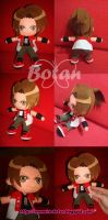 chibi Masaru Daimon plush version by Momoiro-Botan