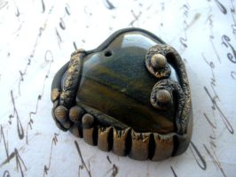 Tiger's Eye Heart Pendant by RoyalKitness