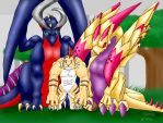 Two dragons and a weretiger... by whoatheresara