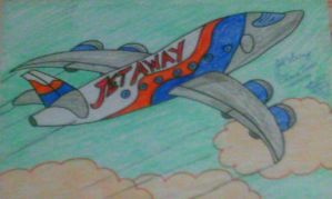 Jet Away Plane toon by artluvr4life