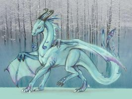 The dragon of icy water by Ikleyvey