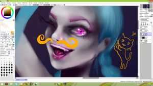 Jinx from League of Legends WIP by Donovv