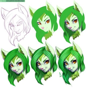 Face_Step by Step (pack07) by playfurry