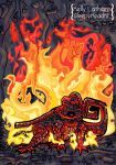 Mayan Fire Lizard by SleepyHeadKL