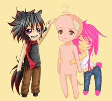 Kitty/Doggy/Bunny Collab -Open- by iAngelDimples