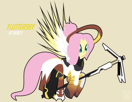 Fluttershy as Mercy by Inspectornills