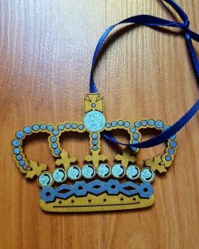 The Sapphire King Crown Ornament by CrimsonsCreations