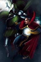 Dr Doom vs Dr Strange by PlER0