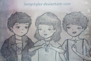 Leo,Hazel and Nico by HangStyles