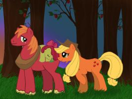 Apple Family Recolored by LadyRoxanne7