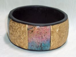 Ornate Bangle Bracelet by ACrowsCollection
