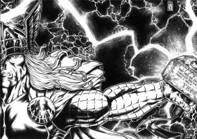 THOR INKS COMMISION 2011 by barfast