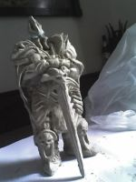 Lich King Clay WIP by Art-Calavera