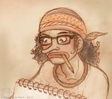 Usopp with glasses by CappuccinoBird