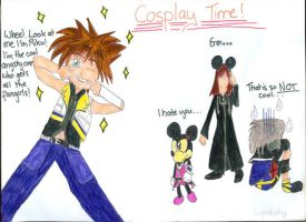 Cosplay Time - KH2 style by Destinys-spirits