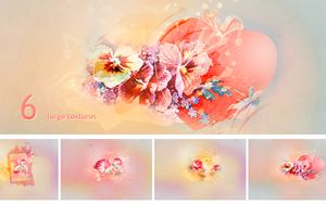 Textures - Colorful flowers by So-ghislaine