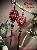 Roses and spikes (and skeleton) by Verope