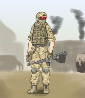 ps touch practice: soldier in the dust by livinlovindude