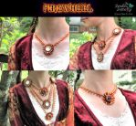 Firewheel Convertible Beaded Necklace by beadg1rl