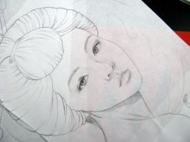 sketch of geisha (detail) by LolaPoleggi