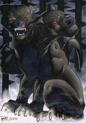 Cerberus Classic Mythology Sketch Card