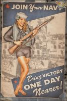Propaganda Pinups - Join Your Navy! by warbirdphotographer
