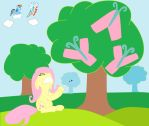 fluttershy yay my litte pony by sallycars