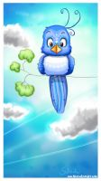 blue sky-bird by PinkBunnyLilli