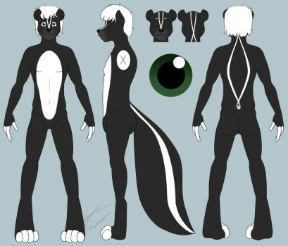 COMM: Lince Skunk Ref Sheet by Pokemon-Chick-1