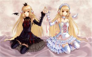 Chobits - Chii and Freya by ChanpART