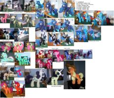 all the ponies i made in 2012 by SwiftStitchCreations