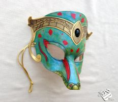 Greek Goddess Demeter Leather Gecko Mask by b3designsllc