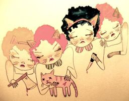 fat copy cats by jokneeappleseed
