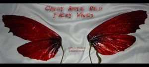 Dark Candy Apple RED fae wing by S0WIL0