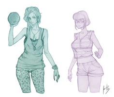 Characters new comic project. by javiermtz