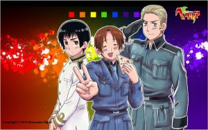 Hetalia: Axis Powers Wallpaper by AlexanderTheTerrible