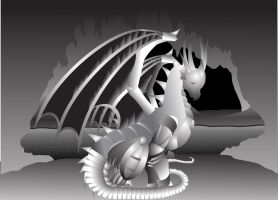 Dragon In Cave by Live-2-Create