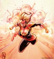 Captain Marvel by davemad